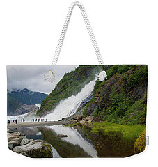 Mendenhall Waterfall Weekender Tote Bag