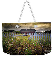 Weekender Tote Bag featuring the photograph Mendocino Red Barn by Craig J Satterlee