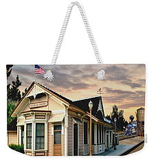 Menlo Park Station Weekender Tote Bag by Ron Chambers