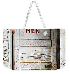 Men's Room Weekender Tote Bag by Marilyn Hunt