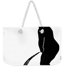 Mens Room Sign Silhouette Weekender Tote Bag