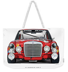 Mercedes-benz 300sel 6.3 On White Weekender Tote Bag