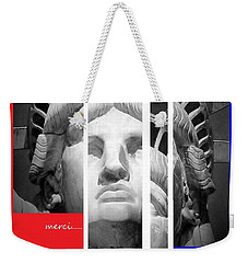 Merci Weekender Tote Bag by Andrew Drozdowicz