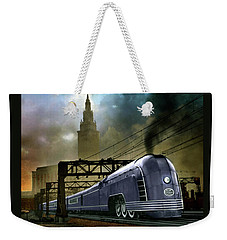 Mercury Train Weekender Tote Bag