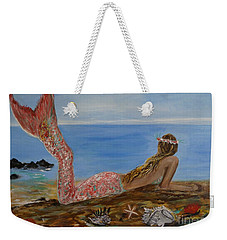 Mermaid Beauty Weekender Tote Bag by Leslie Allen