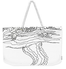 Mermaid Bubblebath Bw Weekender Tote Bag