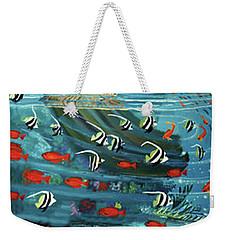 Mermaid In Paradise Towel Version Weekender Tote Bag