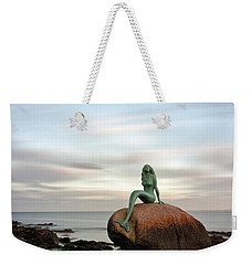 Weekender Tote Bag featuring the photograph Mermaid Of The North East by Grant Glendinning
