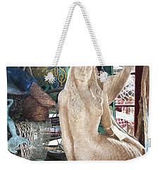 Mermaid Pondering Weekender Tote Bag