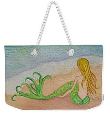 Mermaid Sunset Weekender Tote Bag