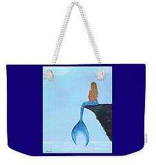 Weekender Tote Bag featuring the painting Mermaids Bundle To Be by Leslie Allen