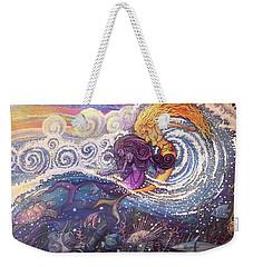 Mermaids In The Surf Weekender Tote Bag