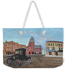 Old New England Town Weekender Tote Bag