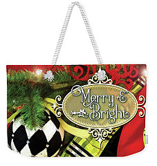 Merry And Bright Weekender Tote Bag