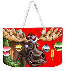 Merry Chris Moose Weekender Tote Bag