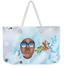 Merry Christmas And Kisses Weekender Tote Bag