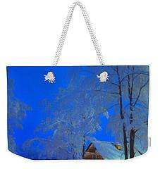 Merry Christmas Cabin Digital Art Weekender Tote Bag