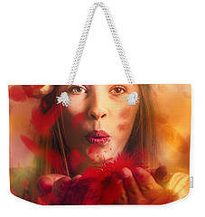 Merry Christmas Elf Weekender Tote Bag by Jorgo Photography - Wall Art Gallery