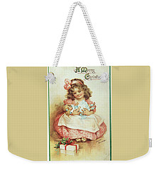 Merry Christmas For My Dolly Weekender Tote Bag by Reynold Jay