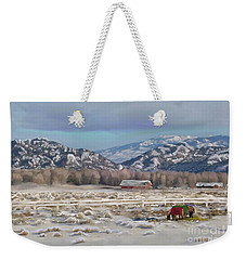Merry Christmas From Wyoming Weekender Tote Bag