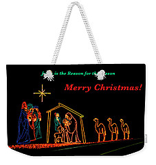 Merry Christmas Weekender Tote Bag by Penny Lisowski