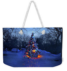 Weekender Tote Bag featuring the photograph Merry Christmas by Phil Koch