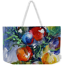 Weekender Tote Bag featuring the painting Merry Christmas by Sandra Strohschein