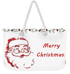 Merry Christmas Santa Claus Horizontal Weekender Tote Bag
