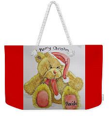 Merry Christmas Teddy  Weekender Tote Bag