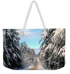 Merry Christmas,happy Holidays Weekender Tote Bag by Elfriede Fulda