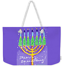 Weekender Tote Bag featuring the painting Merry Everything by Jean Pacheco Ravinski