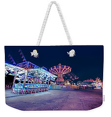 Weekender Tote Bag featuring the photograph Merry Go Creepy by JD Mims
