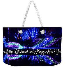 Merry Peacock Weekender Tote Bag