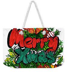Merry Xmas Weekender Tote Bag