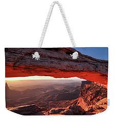 Mesa Arch At Sunrise 2, Canyonlands National Park, Utah Weekender Tote Bag