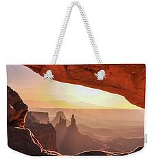 Mesa Arch At Sunrise, Washer Woman Formation , Canyonlands National Park, Utah Weekender Tote Bag