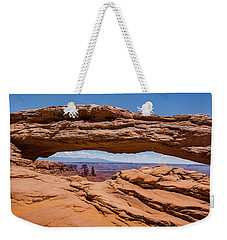 Weekender Tote Bag featuring the photograph Mesa Arch Canyonlands by Brenda Jacobs