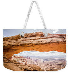 Mesa Arch Sunrise Weekender Tote Bag by JR Photography
