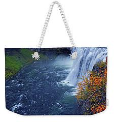Mesa Falls In The Fall Weekender Tote Bag