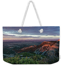 Weekender Tote Bag featuring the photograph Mesa Verde Soft Light by Margaret Pitcher
