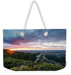 Weekender Tote Bag featuring the photograph Mesa Verde Sunset by Margaret Pitcher