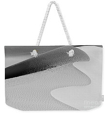 Weekender Tote Bag featuring the photograph Mesquite Dunes Patterns by Sandra Bronstein