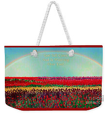Message From The Other Side With A Bit Of Christmas Color Cheer Weekender Tote Bag by Kimberlee Baxter