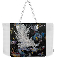 Weekender Tote Bag featuring the painting Message Received by Judith Rhue
