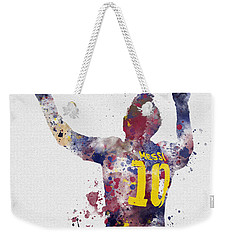 Messi Weekender Tote Bag by Rebecca Jenkins