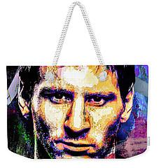 Messi Weekender Tote Bag by Svelby Art