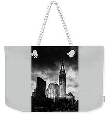 Weekender Tote Bag featuring the photograph Met-life Tower by Marvin Spates
