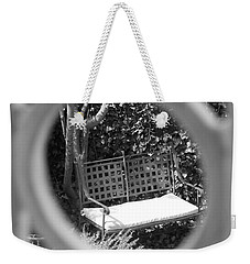Metal Bench In Sedona Weekender Tote Bag