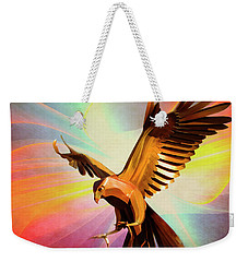 Metal Bird 1 Of 4 Weekender Tote Bag