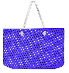 Weekender Tote Bag featuring the photograph Metal Panel Blue Abstract by Tom Janca